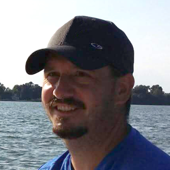 Matt Simington production manager for sailboat sails and hardware